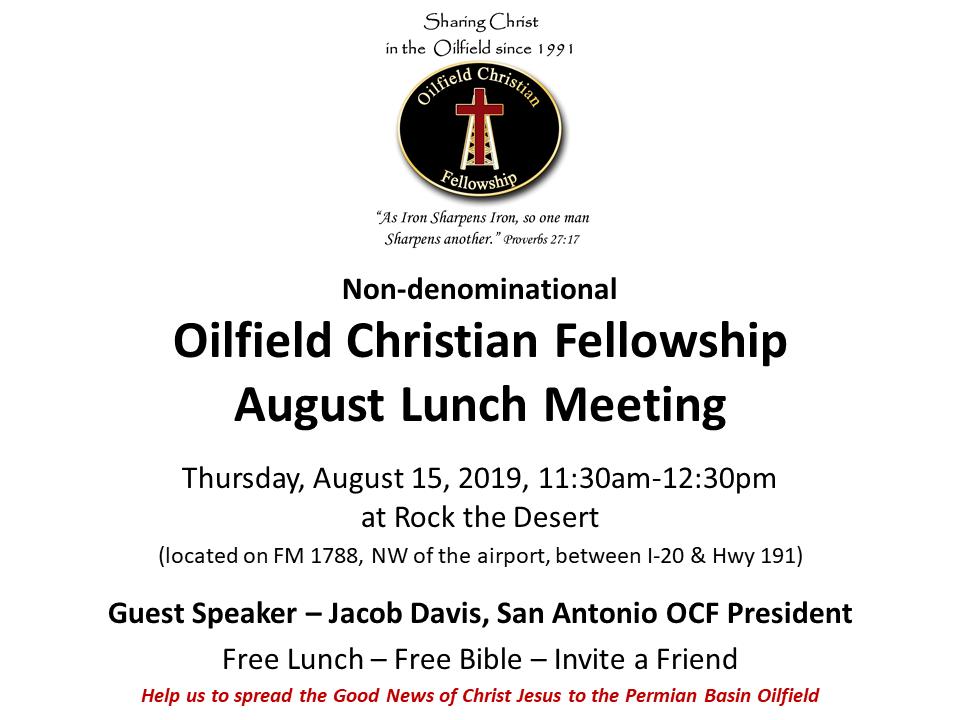Oilfield Christian Fellowship | Permian Basin OCF